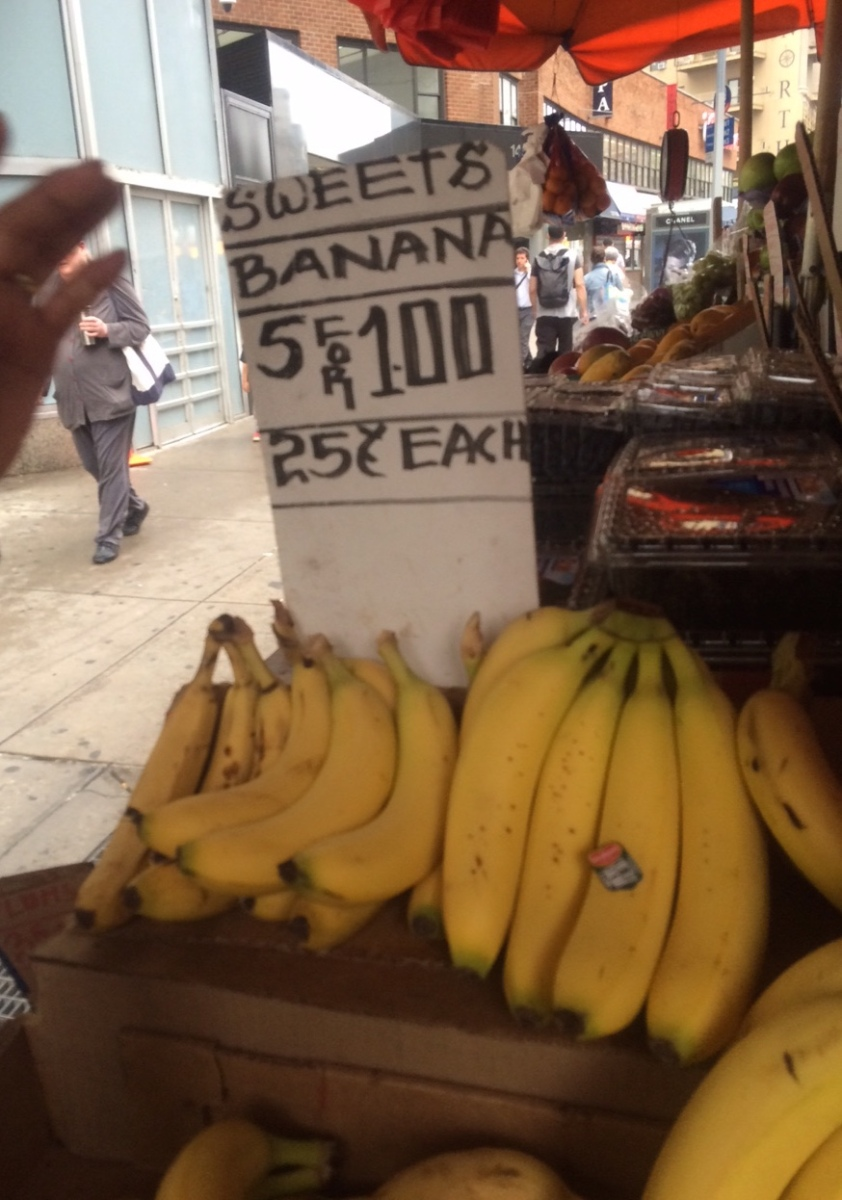 Commodity Analysis:  5 for $1 Bananas